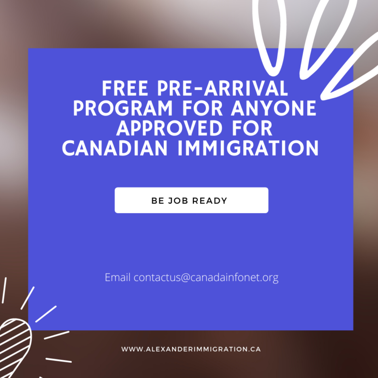 Free Canadian Pre-Arrival Services