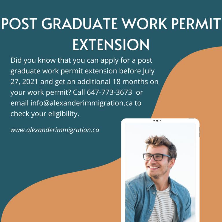 Post Graduate Work Permit Extension